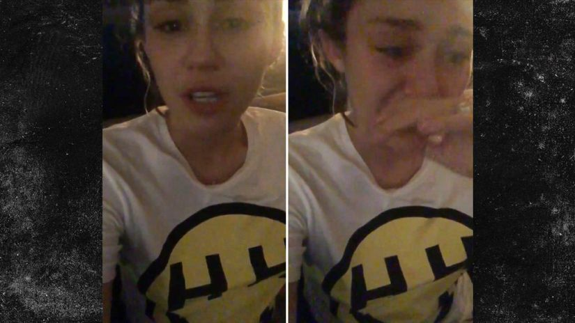 VIDEO: Miley Cyrus Can't Stop Crying