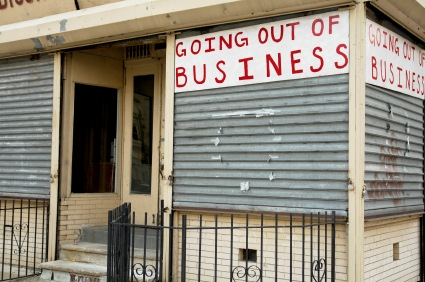 going out of business sign due to high taxes and regulations